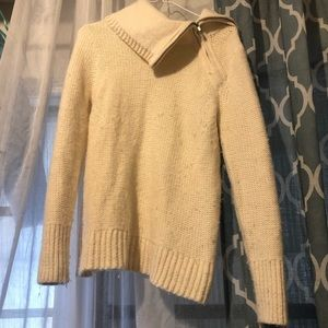 Banana Republic turtleneck side zip wool sweater S